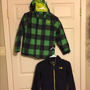 North Face 3 in 1 jacket size s(7/8)